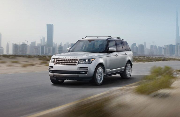 2016 Land Rover Range Rover on the road outside a city