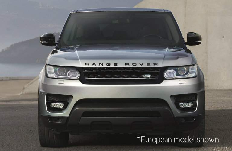 front view of a silver 2017 Land Rover Range Rover Sport, European model
