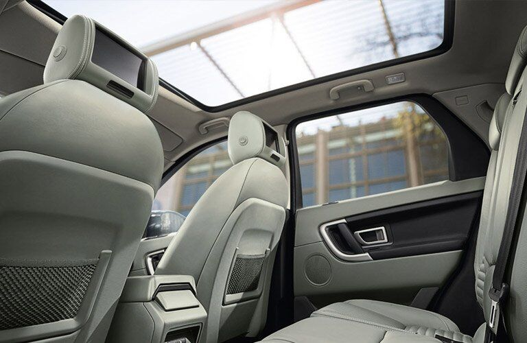 interior view of the 2017 Land Rover Discovery Sport panoramic sunroof