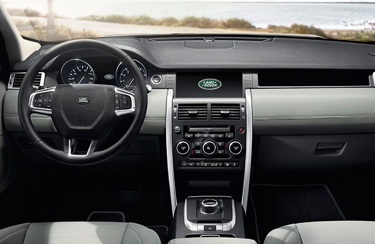 center console of 2019 land rover discovery sport