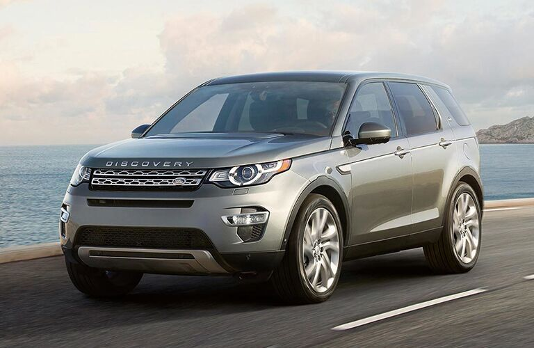 lr discovery sport driving on road