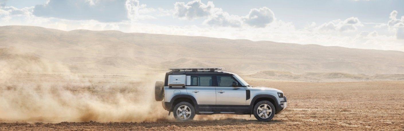 2020 Land Rover Defender on desert terrain