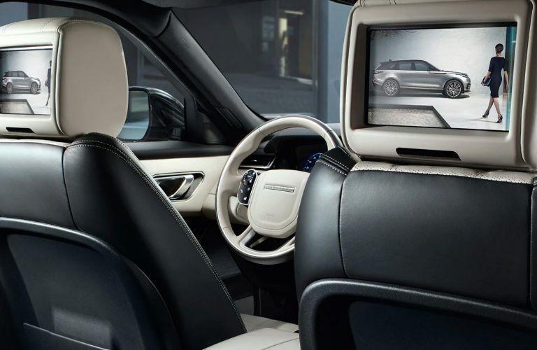 2020 Range Rover Velar rear entertainment system