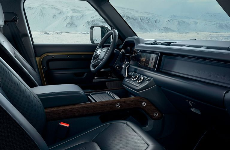 2021 Land Rover Defender dashboard and front seats