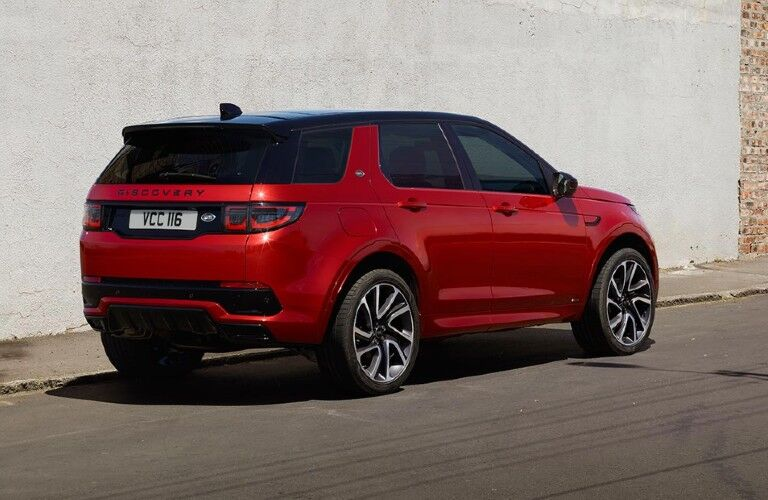 2021 Land Rover Discovery Sport viewed from rear