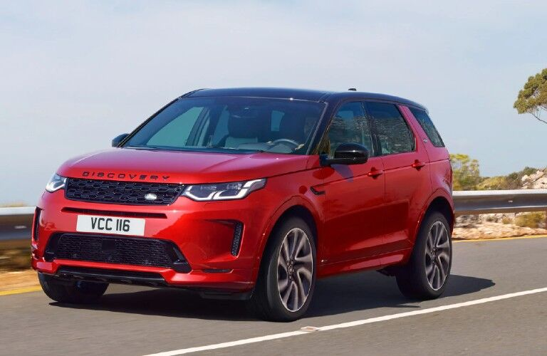 2021 Land Rover Discovery Sport on coastal road