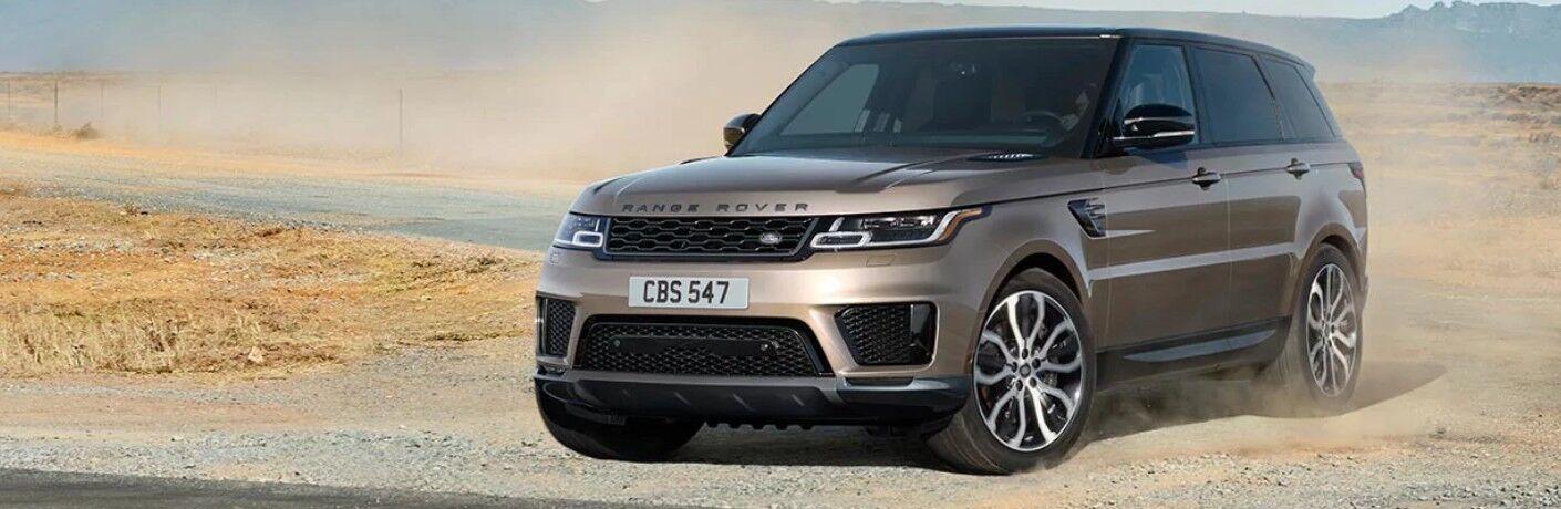 2021 Range Rover Sport on gravel road