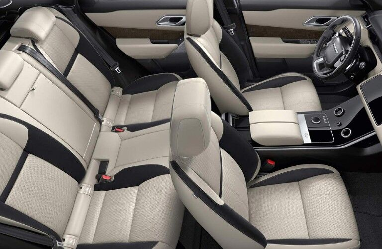 2021 Range Rover Velar front and rear seats