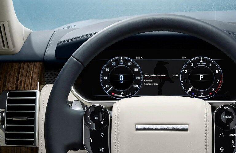 2021 Range Rover instrument cluster