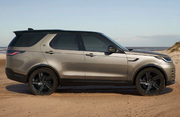 2021 Land Rover Discovery on beach