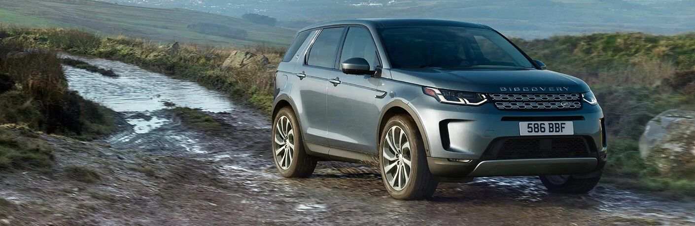 2021 Land Rover Discovery Sport on muddy trail