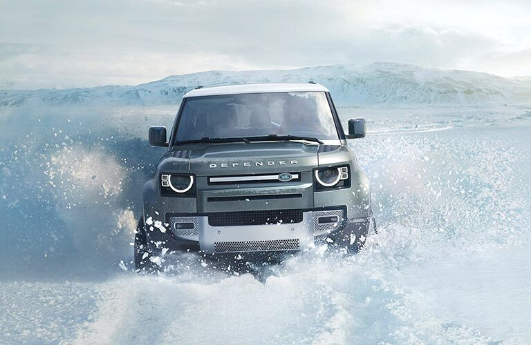 2022 Land Rover Defender 110 in snow