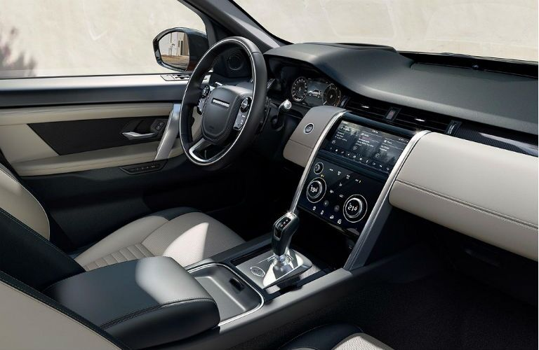 dash and center console in 2020 land rover discovery sport