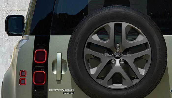 Land Rover Defender rear gate detail