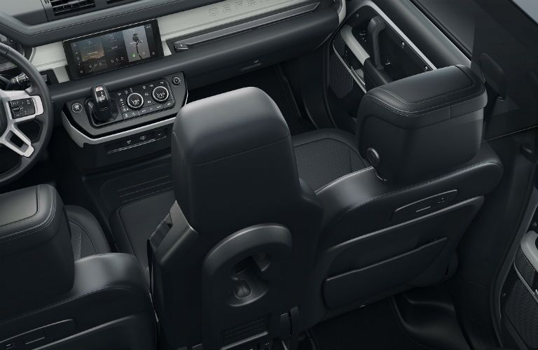 isometric view of interior in 2020 land rover defender