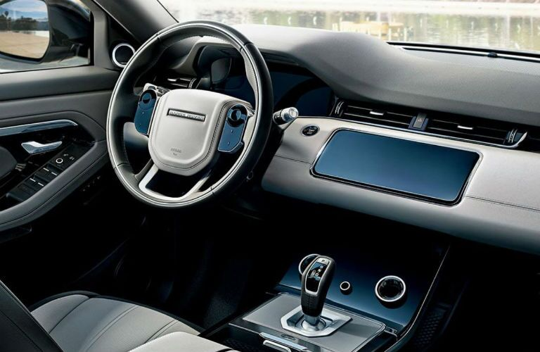 interior of 2020 range rover evoque