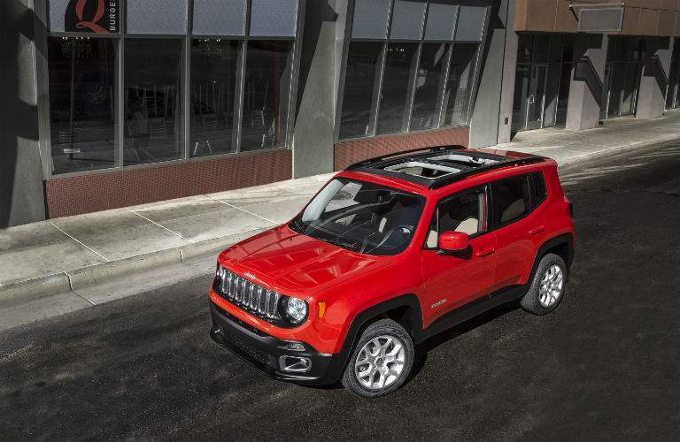 2018 jeep renegade. simple renegade 2018 jeep renegade front side exterior birds eye view for jeep renegade