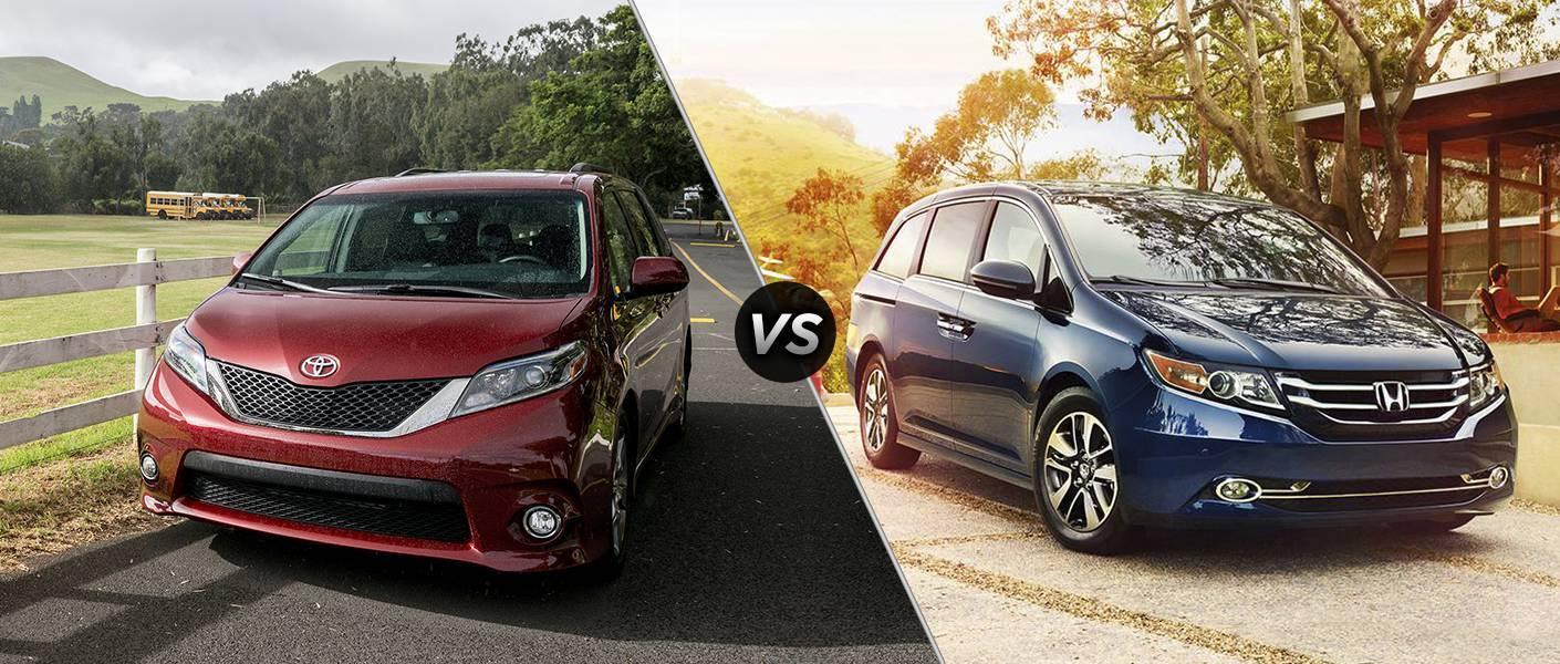 2016 Toyota Sienna vs 2016 Honda Odyssey HP cargo room all-wheel-drive