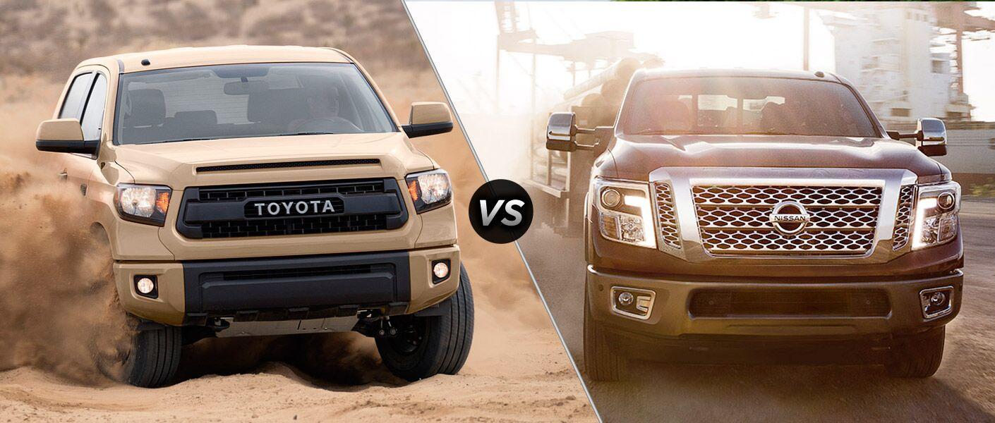 2016 Toyota Tundra vs. 2016 Nissan Titan fullsize pickup 381 HP Highway Thru Hell towing performance Mike Johnson's Hickory Toyota Hickory Gastonia NC