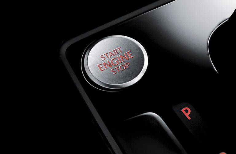 2016 VW Beetle interior engine start button