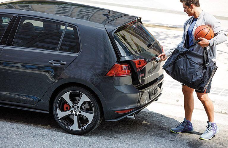 black 2016 VW Golf GTI rear hatch door