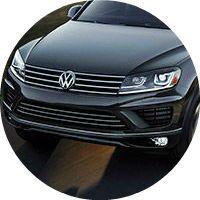 black VW Touareg front grille