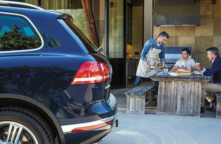 Blue 2016 VW Touareg rear cargo door