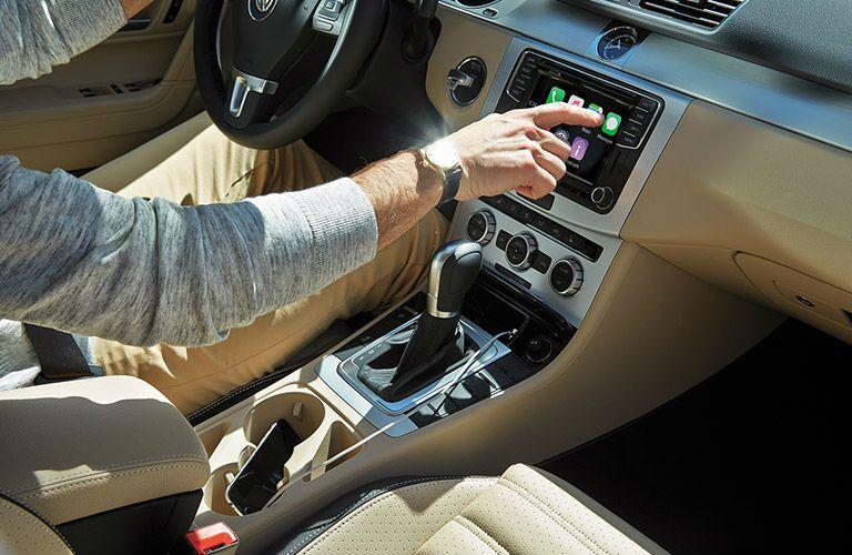 2016 VW CC interior center console and dashboard