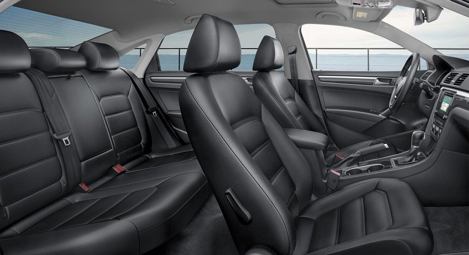 A Red 2019 VW Passat Interiors