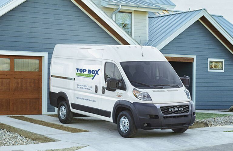2020 Ram ProMaster in residential driveway