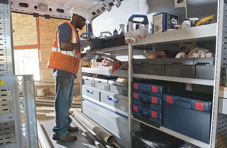 2020 Ram ProMaster upfitted cargo area