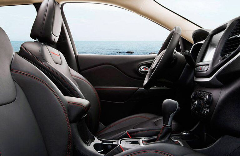 Front driver's seat of the 2016 Jeep Cherokee