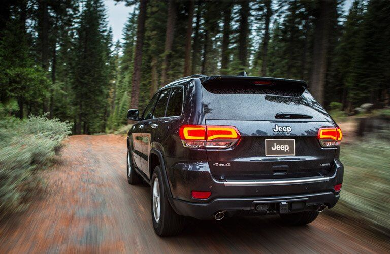 rear view of the 2016 Jeep Grand Cherokee