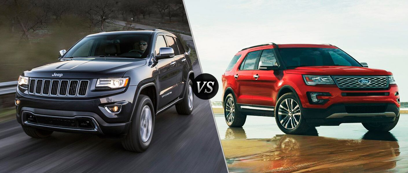 2016 Jeep Grand Cherokee vs 2016 Ford Explorer