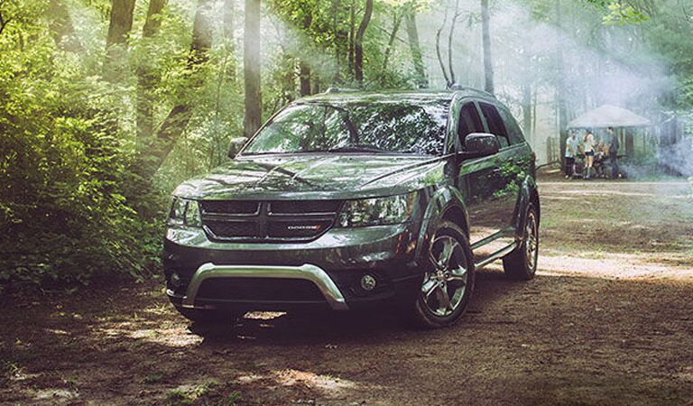 2016 Dodge Journey midsize SUV in the forest