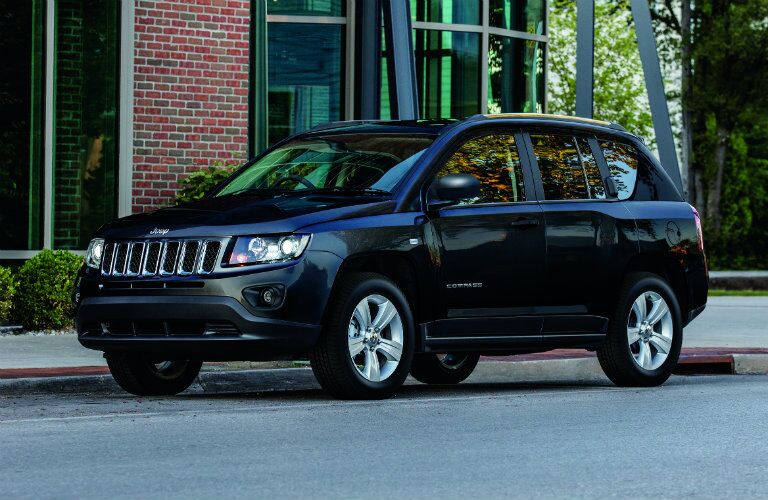 black 2017 Jeep Compass in the city