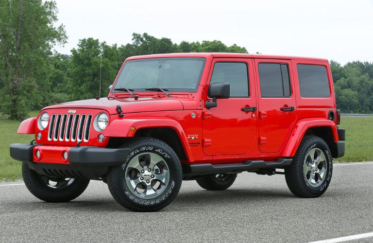 bright red 2017 Jeep Wrangler Unlimited