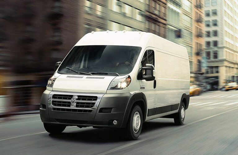 full-size 2017 Ram ProMaster van in the city