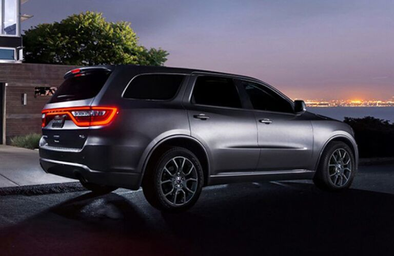 2019 Dodge Durango by residential building at sunset