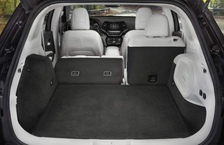 rear cargo area of the 2019 Jeep Cherokee Limited