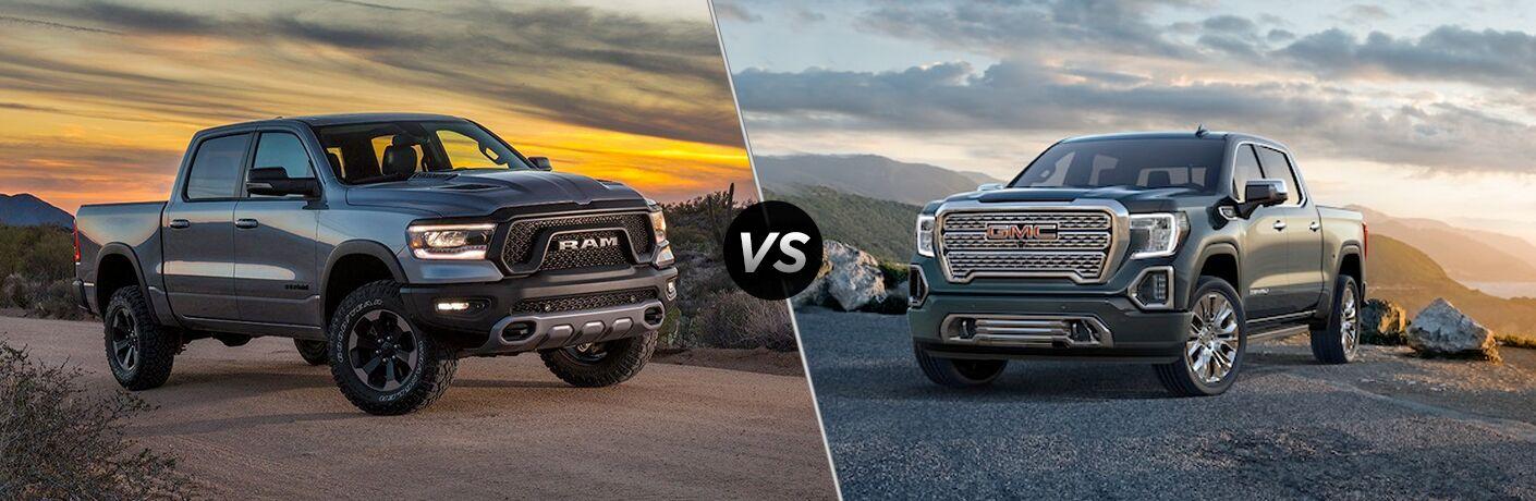 2019 Ram 1500 vs 2019 GMC Sierra comparison image