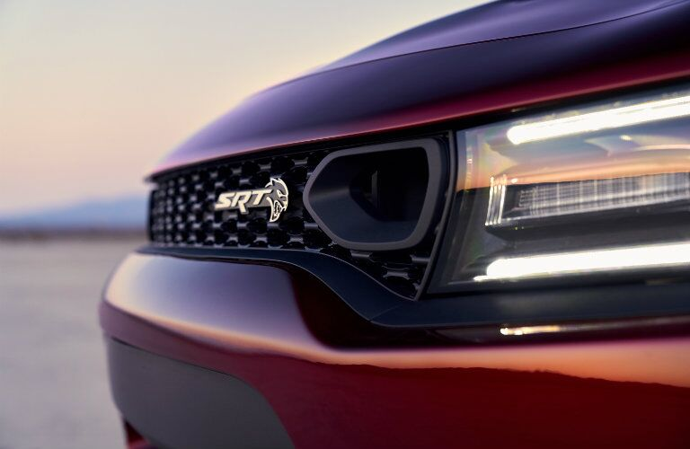 2019 Dodge Charger grille and light close-up
