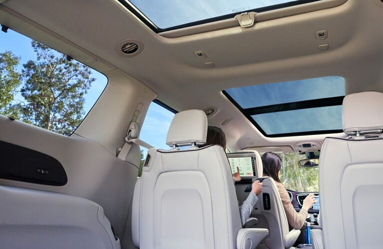 2020 Chrysler Pacifica cargo space with folded third row