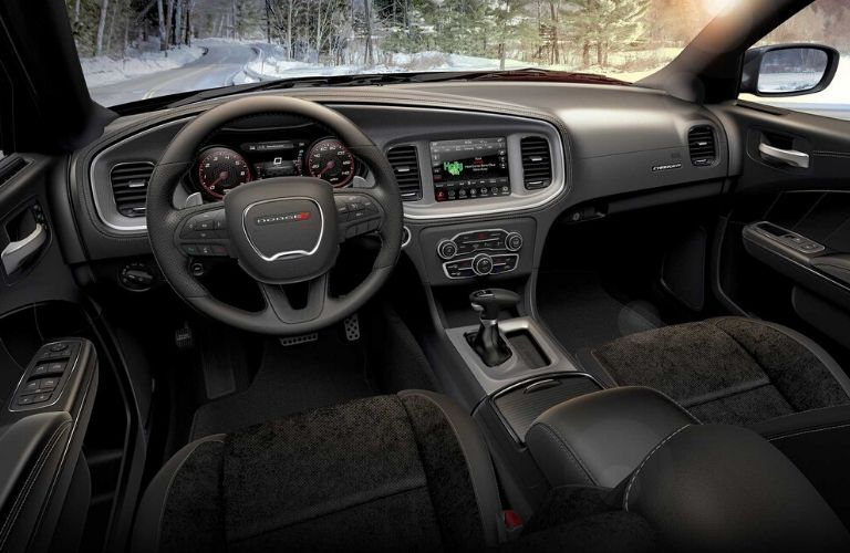 2020 Dodge Charger dashboard and steering wheel