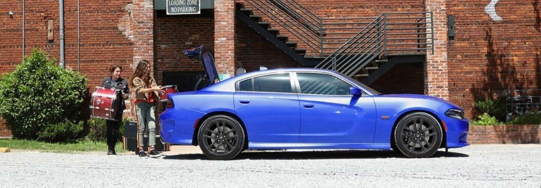 2020 Dodge Charger loaded with band equipment
