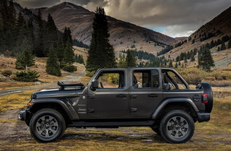 2020 Jeep Wrangler in mountain valley
