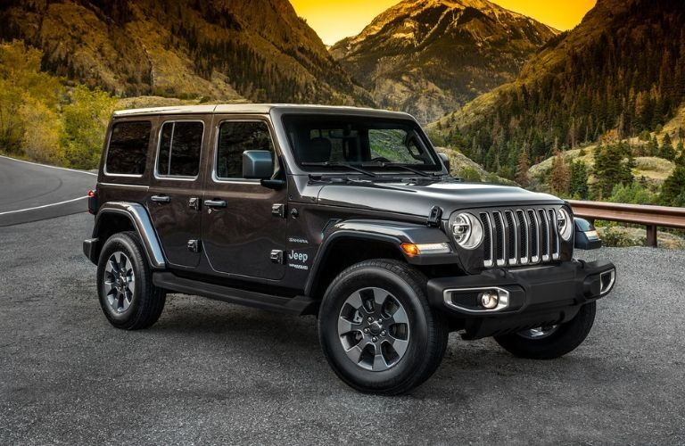 2020 Jeep Wrangler by scenic mountain landscape