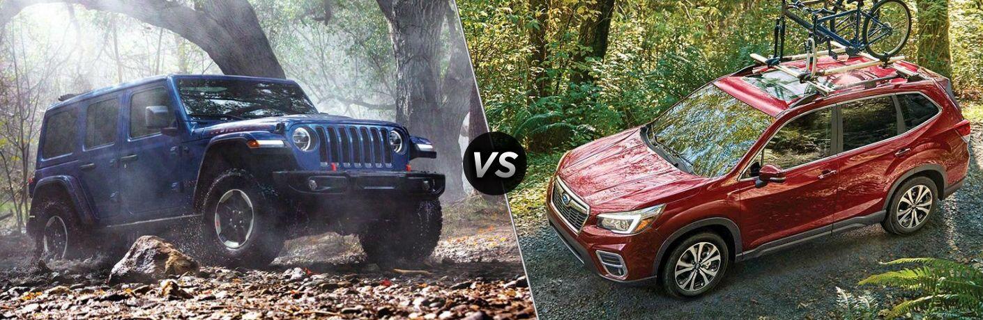 2020 Jeep Wrangler vs 2020 Subaru Forester