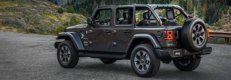 2020 Jeep Wrangler by scenic rocky terrain