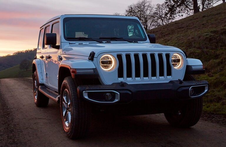 2020 Jeep Wrangler on rural road